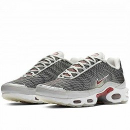AIR MAX PLUS OG (Цвет Neutral Grey-Varsity Red-White)