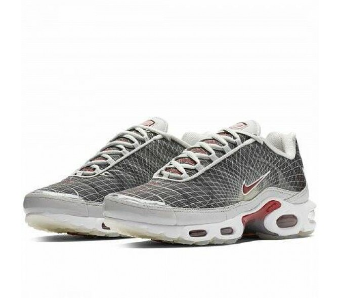 Кроссовки Nike AIR MAX PLUS OG (Цвет Neutral Grey-Varsity Red-White)