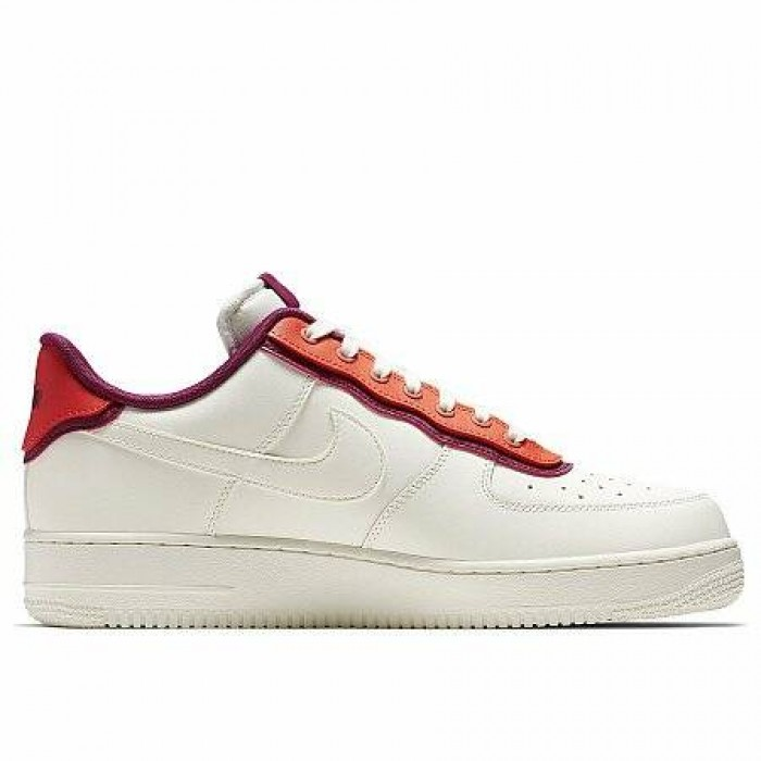 Кроссовки Nike AIR FORCE 1 '07 LV8 1 (Цвет White-Red)