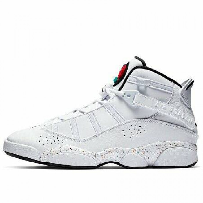 Кроссовки Jordan 6 RINGS SHOE (Цвет White-Black-Canyon Gold-University Red)