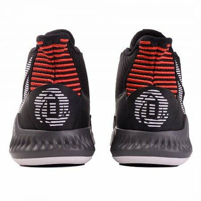 Кроссовки Adidas Originals D ROSE 9 (Цвет Core Black-White-Scarlet)