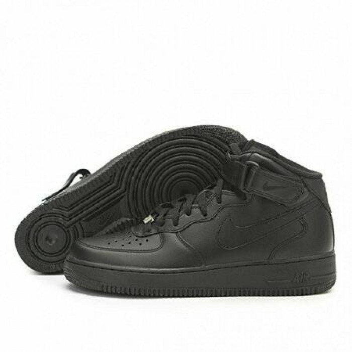 Кроссовки Nike AIR FORCE 1 MID '07 (Цвет Black)