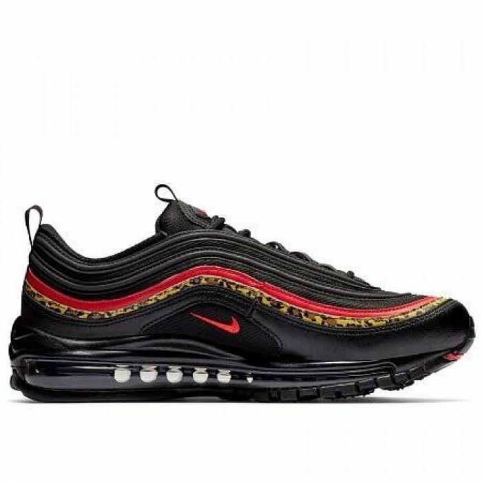 Кроссовки Nike AIR MAX 97 (Цвет Black-University Red-Print)