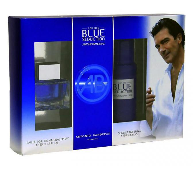 Подарочный набор Antonio Banderas Blue Seduction (M) set (50ml edt+deo 150ml)