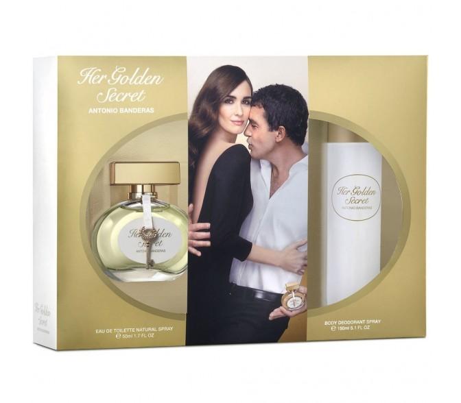 Подарочный набор Antonio Banderas Her Golden Secret (L) set (50ml edt+deo 150ml)