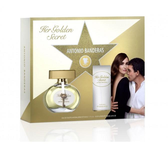 Подарочный набор Antonio Banderas Her Golden Secret (L) set (80ml edt+b/l 100ml)