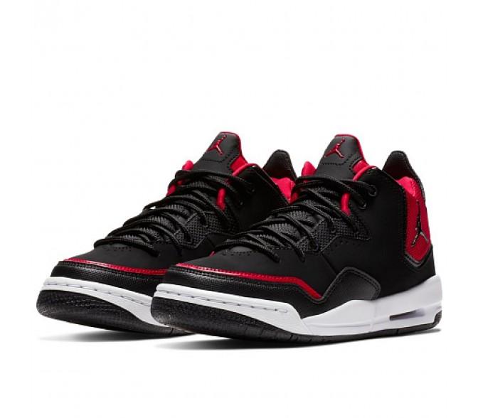 Кроссовки Jordan COURTSIDE 23 (Цвет Black-Black-Gym Red-White)