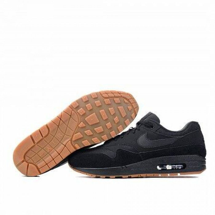 Кроссовки Nike AIR MAX 1  (Цвет Black-Gum Med Brown)