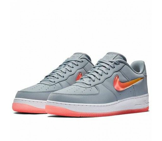 Кроссовки Nike AIR FORCE 1 '07 PREMIUM 2 (Цвет Obsidian Mist-Hot Punch-University Gold)