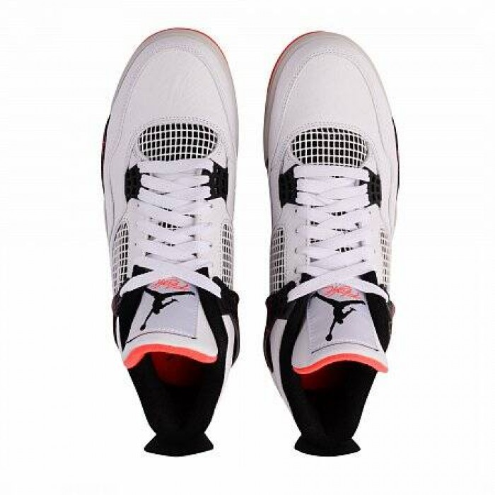 Кроссовки Jordan AIR JORDAN 4 RETRO (Цвет White-Black-Bright Crimson)