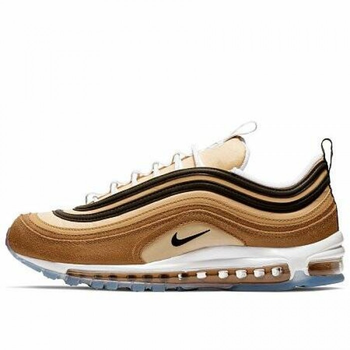 Кроссовки Nike AIR MAX 97 (Цвет Ale Brown-Black-Elemental Gold)