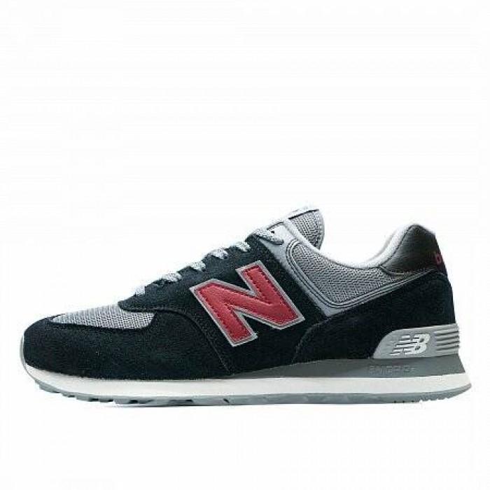 Кроссовки New Balance 574 (Цвет Gray-Black-Red)