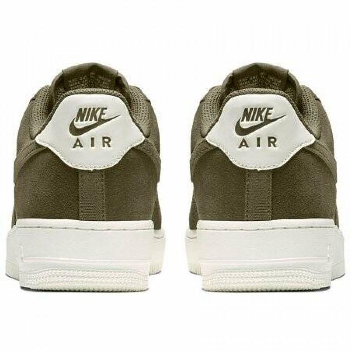 Кроссовки Nike AIR FORCE 1 '07 SUEDE (Цвет Medium Olive-Sail)