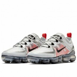 NIKE AIR VAPORMAX 2019 (GS) (Цвет Pure Platinum-Black-White-Team Orange)