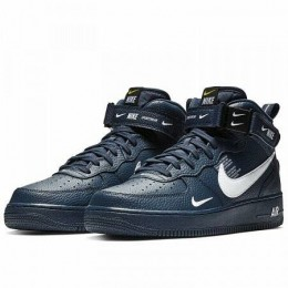 AIR FORCE 1 MID '07 LV8 (Цвет Obsidian-White-Black-Tour Yellow)