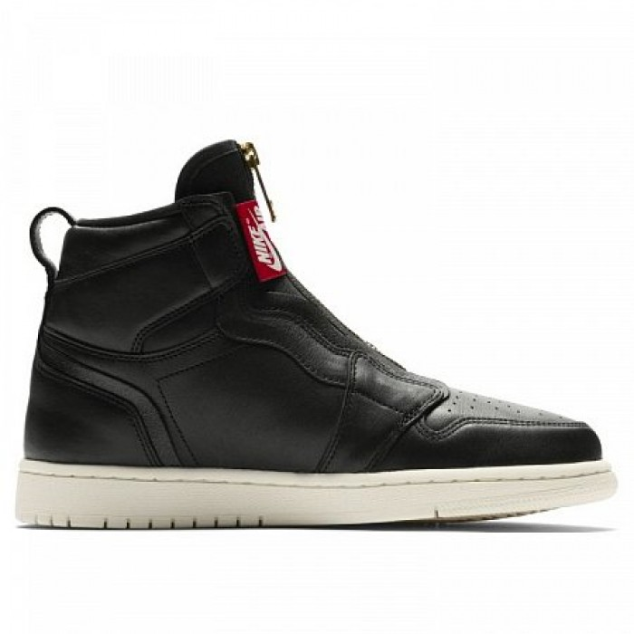 Кроссовки Jordan AIR JORDAN 1 HIGH ZIP (Цвет Black-Sail-University Red)