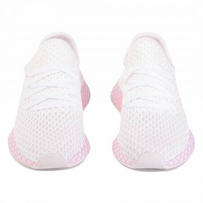 Кроссовки Adidas Originals DEERUPT RUNNER (Цвет Cloud White-Cloud White-Clear Lilac)