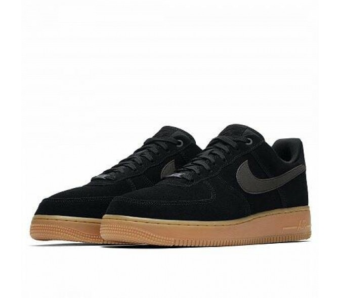 Кроссовки Nike AIR FORCE 1 07 LV8 SUEDE (Цвет Black)