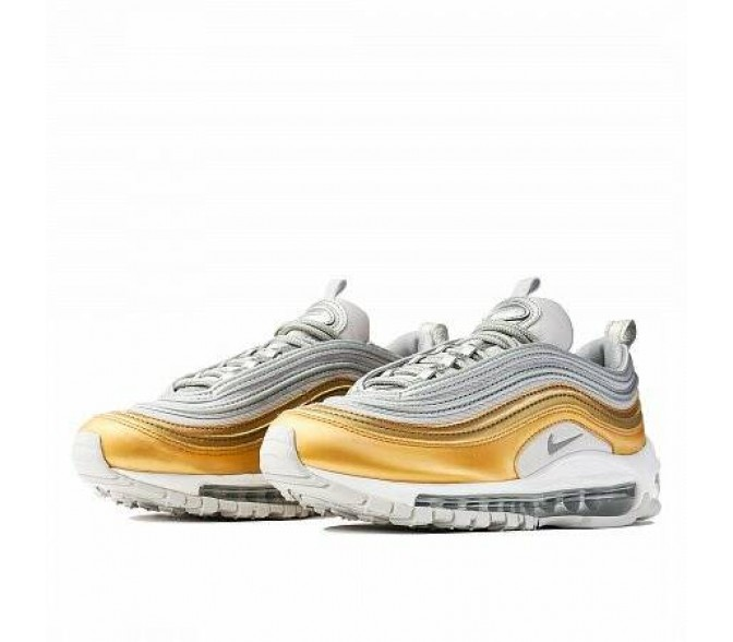 Кроссовки Nike AIR MAX 97 SPECIAL EDITION METALLIC GOLD PACK (Цвет Vast Grey-Metallic Silver-Metallic Gold)
