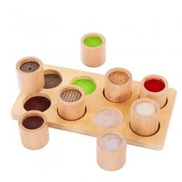 Деревянная обучающая игрушка Монтессори с сенсорным обучением для детей