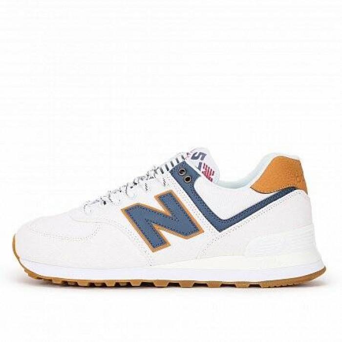 Кроссовки New Balance 574 (Цвет White-Blue)
