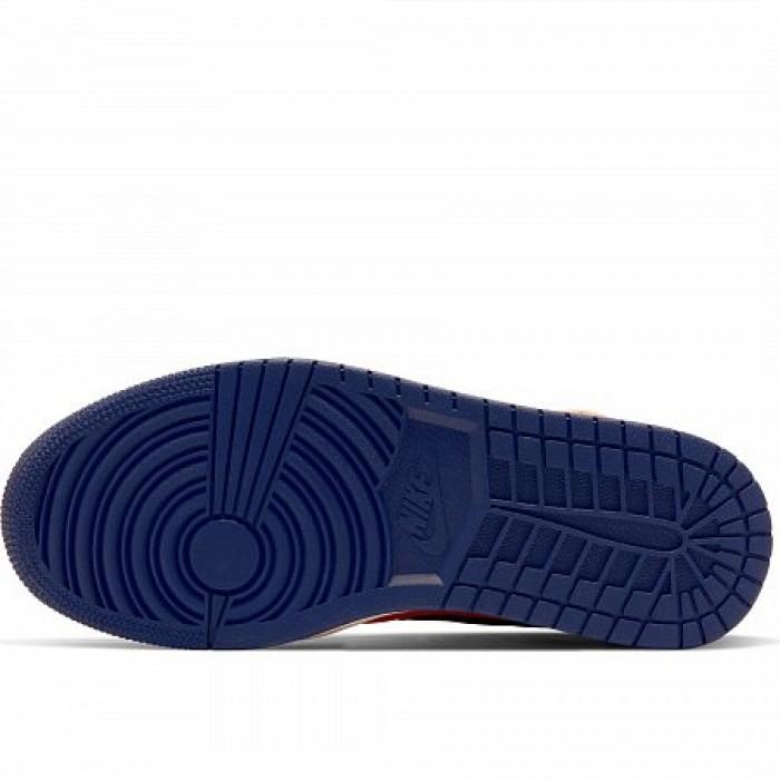 Кроссовки Jordan AIR JORDAN 1 MID (Цвет Turf Orange-Blue Void-Light Cream)