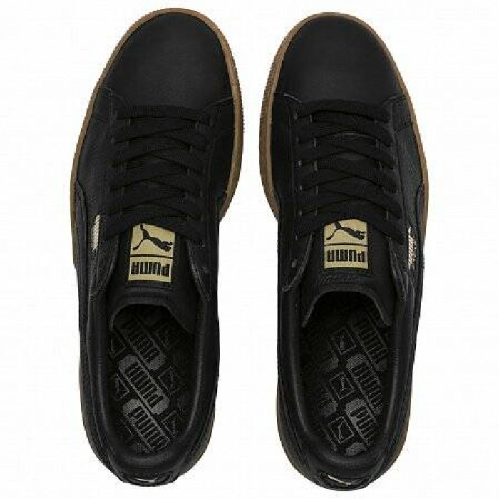 Кроссовки Puma BASKET CLASSIC GUM DELUXE (ЦВЕТ BLACK-METALLIC GOLD)