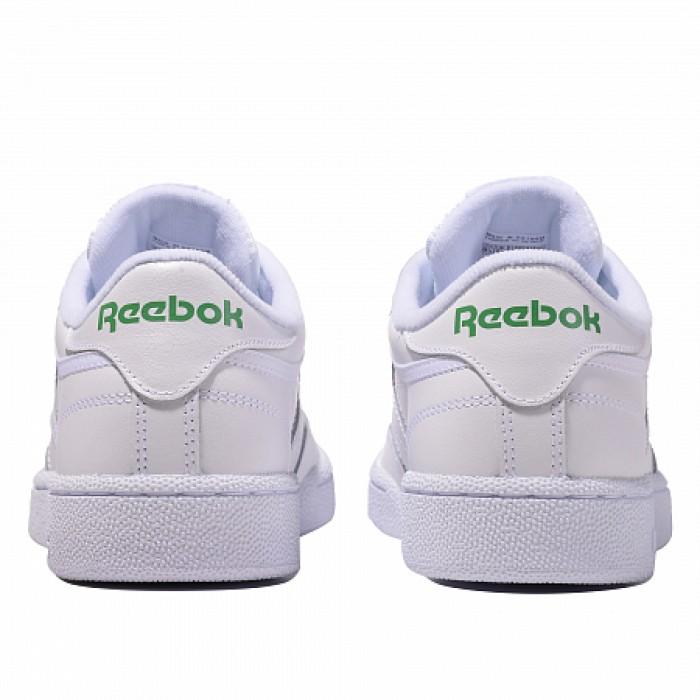 Кроссовки Reebok Classic CLUB C 85 (Цвет Int-White-Green)
