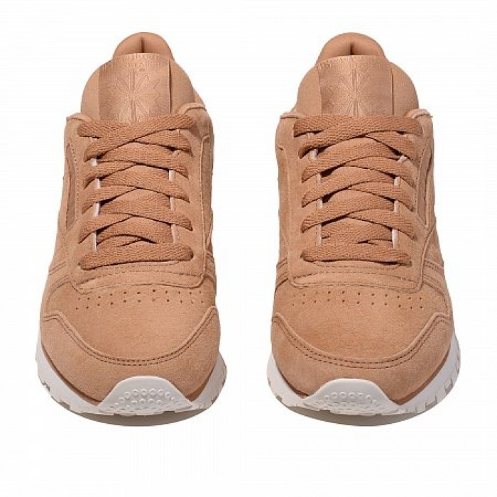 Кроссовки Reebok Classic CLASSIC LEATHER (Цвет Soft Camel-Chalk)