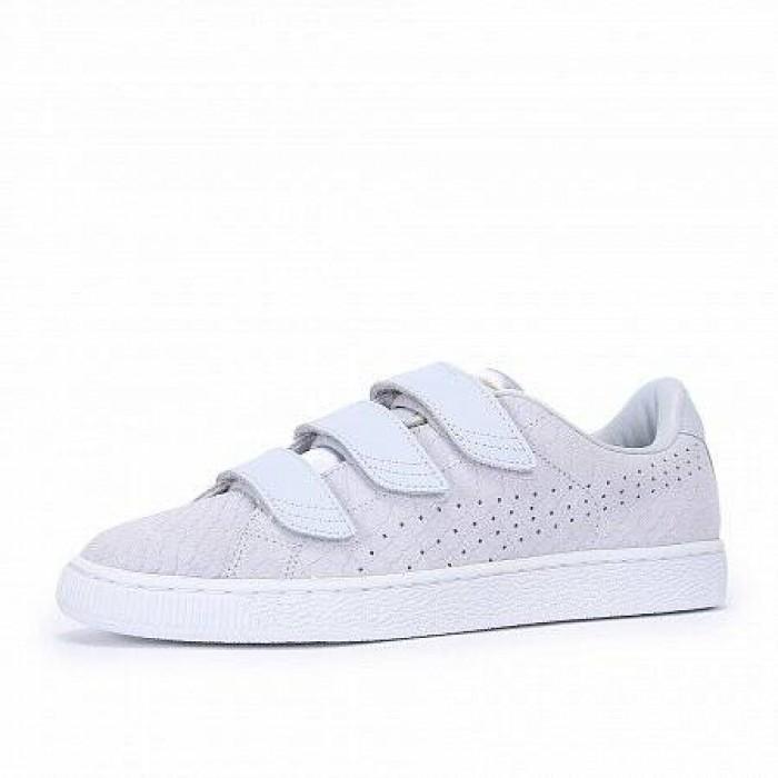 Кроссовки Puma BASKET STRAP EXOTICSKIN (Цвет White)
