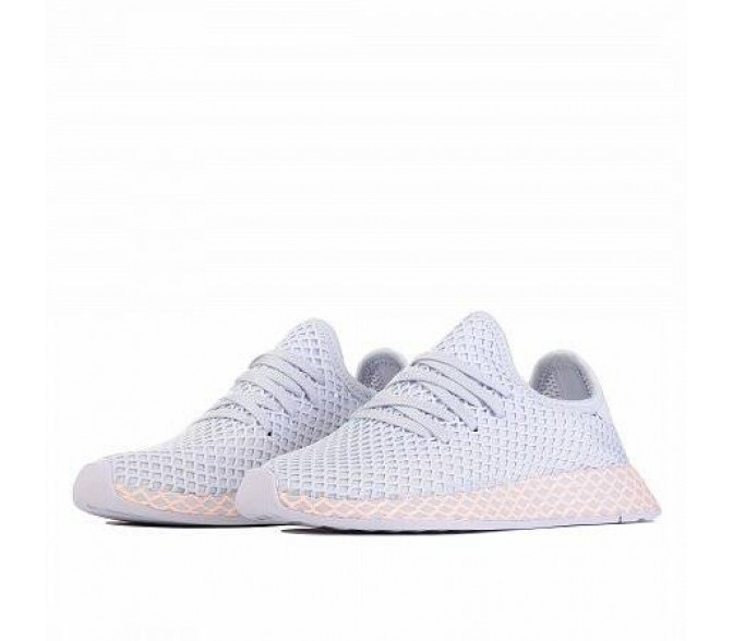 Кроссовки Adidas Originals DEERUPT RUNNER  (Цвет Aero Blue-Aero Blue-Clear Orange)