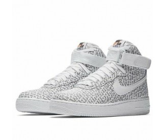 """AIR FORCE 1 HIGH LUX """"JUST DO IT"""" PACK (Цвет White-Black)"""