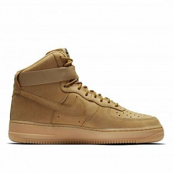 Кроссовки Nike AIR FORCE 1 HIGH '07 LV8 WB FLAX (Цвет Brown)