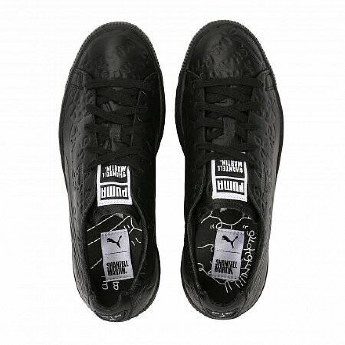 Кроссовки Puma CLYDE RAW SHANTELL MARTIN BLACK (Цвет Black)