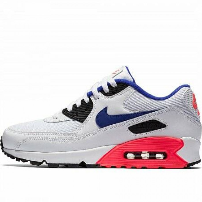 Кроссовки Nike AIR MAX 90 ESSENTIAL (Цвет White-Ultramarine-Solar Red-Black)
