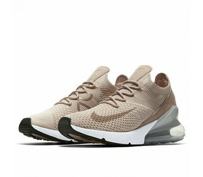 Кроссовки Nike AIR MAX 270 FLYKNIT (Цвет Guava Ice-Particle Beige-Desert Dust)