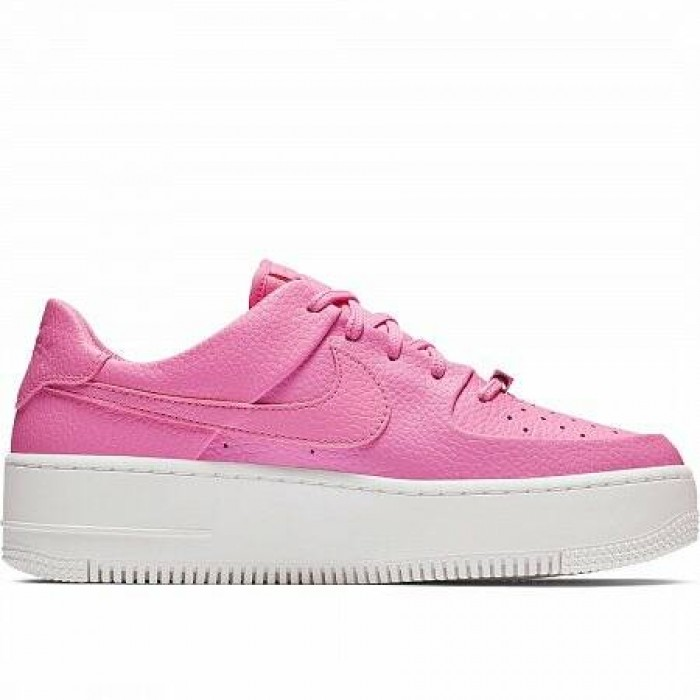 Кроссовки Nike AIR FORCE 1 SAGE LOW (Цвет Psychic Pink-Psychic Pink-White)