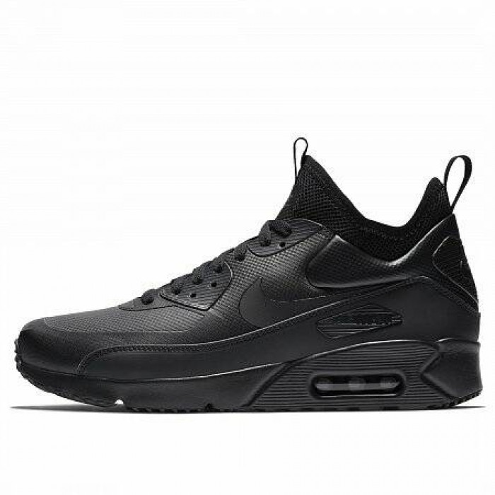 Кроссовки Nike AIR MAX 90 ULTRA MID WINTER (Цвет Black-Black-Anthracite)