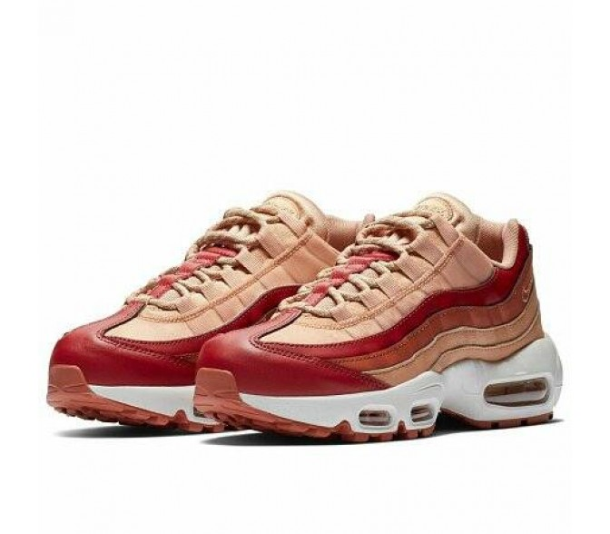 Кроссовки Nike AIR MAX 95 (Цвет Team Crimson-Dusty Peach-Rose Gold)