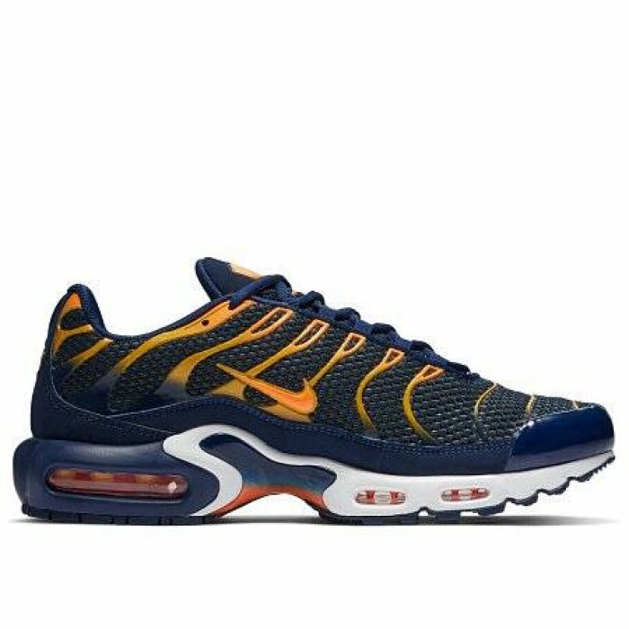 Кроссовки Nike AIR MAX PLUS TN (Цвет Blue Void-Total Orange-University Gold)