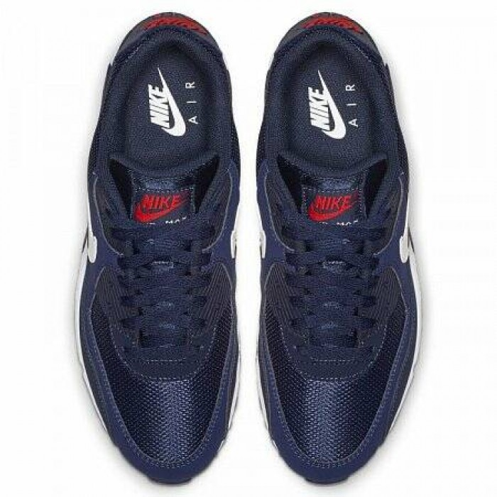 Кроссовки Nike AIR MAX 90 ESSENTIAL (Цвет Midnight Navy-White-University Red)