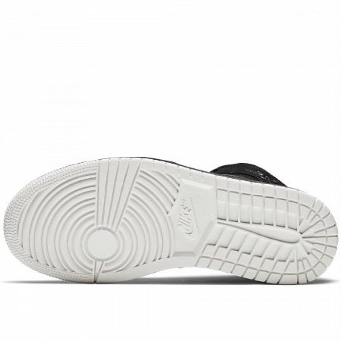 Кроссовки Jordan AIR JORDAN 1 MID (Цвет Black-Phantom-White)