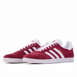 GAZELLE (Цвет Collegiate burgundy-Ftwr white-Gold met)