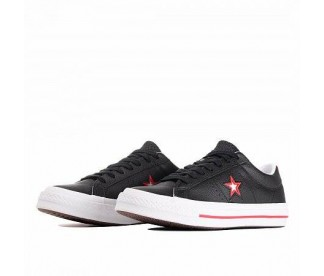 ONE STAR (ЦВЕТ BLACK/CONVERSE RED/WHITE)