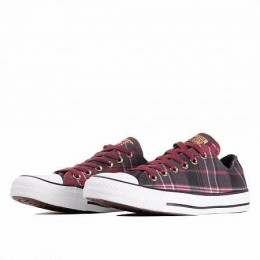 CHUCK TAYLOR ALL STAR (Цвет  DARK BURGUNDY/BLACK/WHITE)